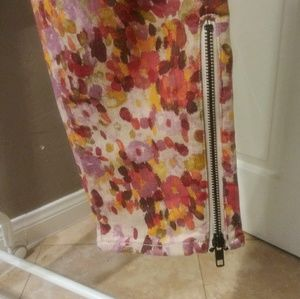 Coldwater Creek Floral Stretch Jean